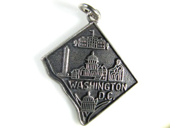 Sterling Silver Washington DC Charm