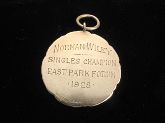 Sterling Tennis Medal