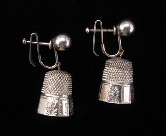 Thimble Earrings