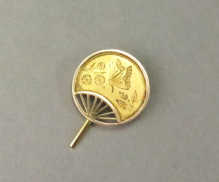 13175F 14K Asian Influence Fan Pin