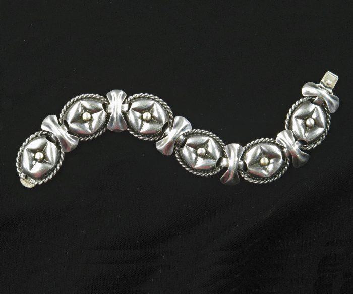 1950's Sterling Napier Bracelet - Front