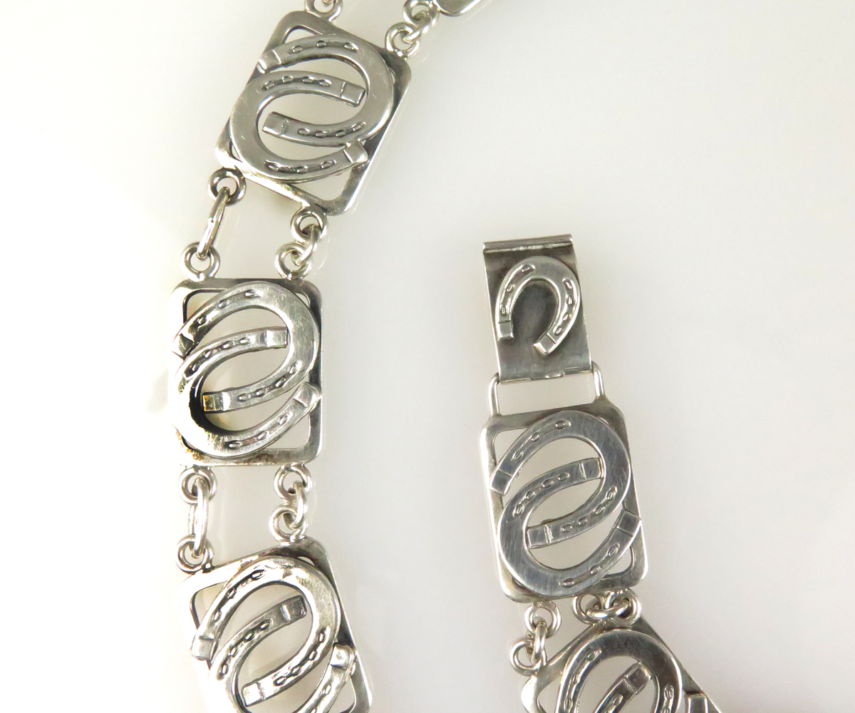 Silver Horseshoe From Neck Bracelet