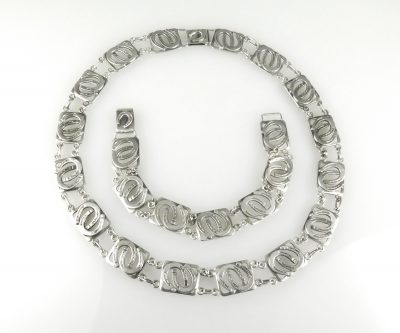 Silver Horseshoe From Neck Bracelet
