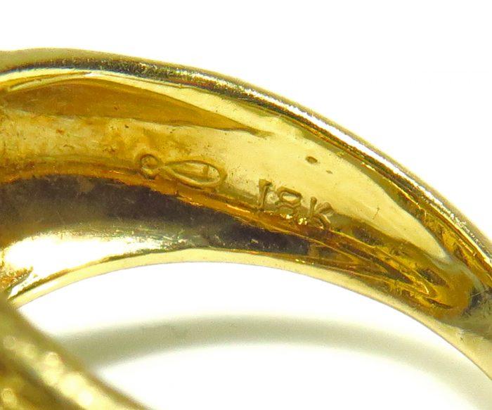 Gold Enamel Peter Lindeman Ring