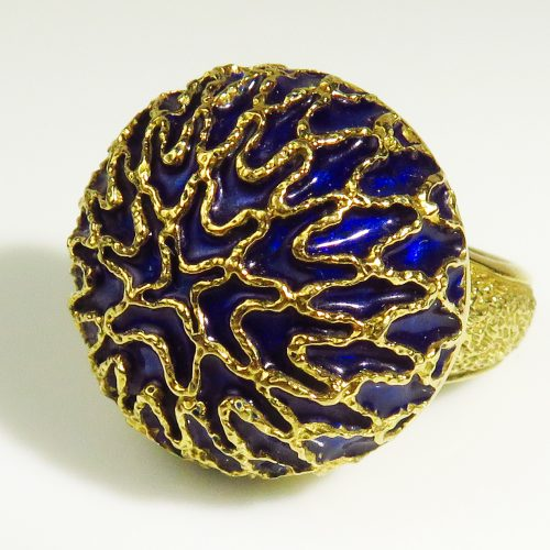 Gold Enamel Peter Lindeman Ring