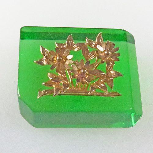 French Gold Flower Brooch