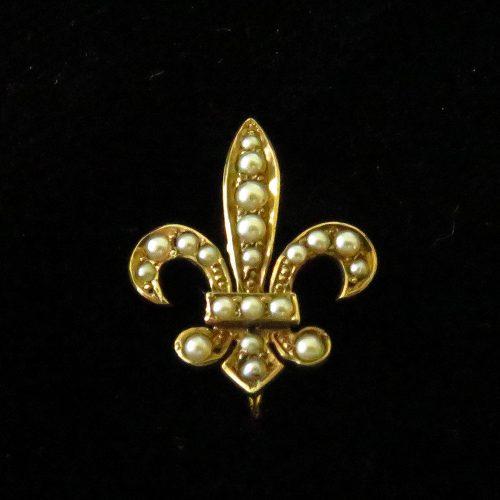 Gold Fleur De Lis Stickpin