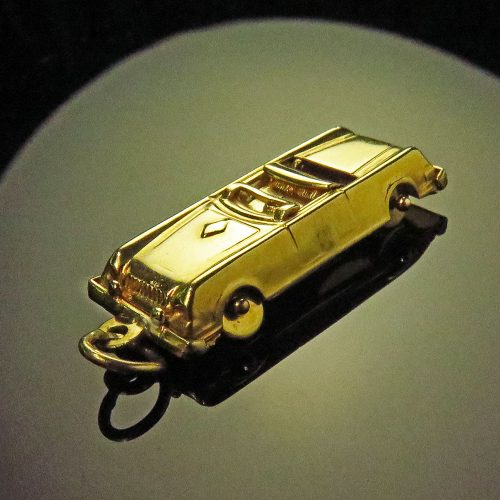 Gold Convertible Car Charm