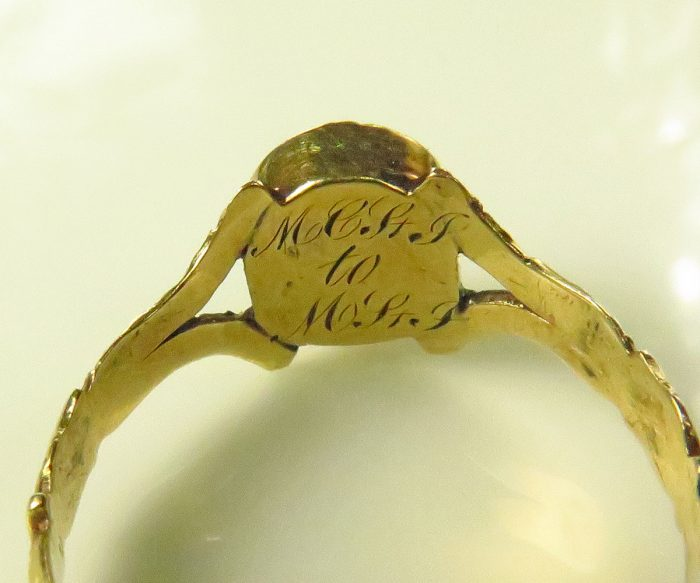 Early Victorian Gold Garnet Ring