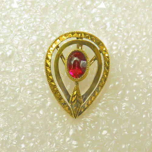 Gold Ruby Stickpin