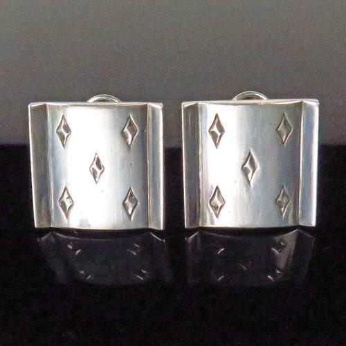 Silver 5 of Diamonds Earrings