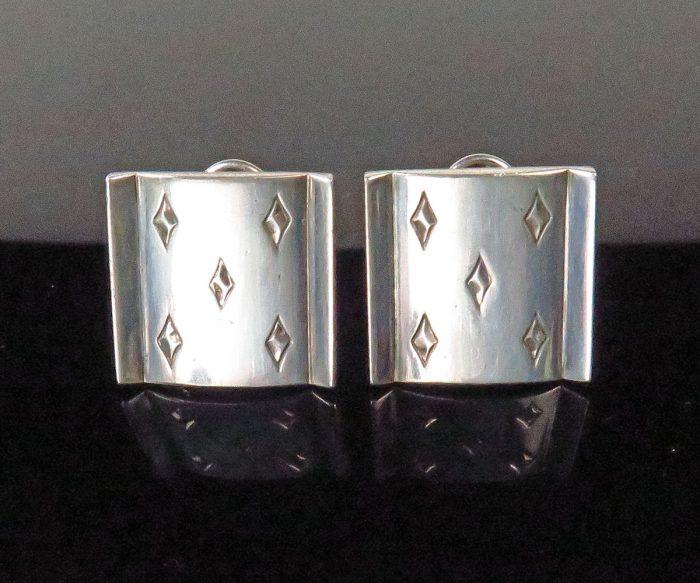 Silver 5 of Diamonds Earrings