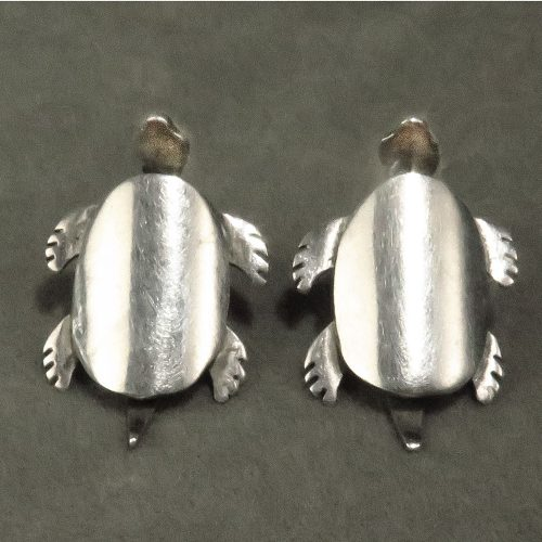 Sterling Mexican Turtle Earrings