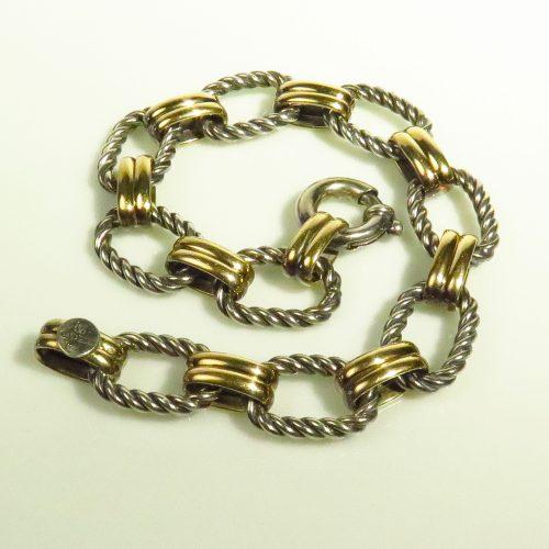 Sterling and 14K Link Bracelet