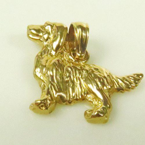 Gold Setter Charm
