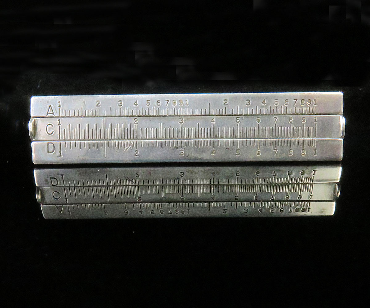 Sterling Slide Rule Tie Clip
