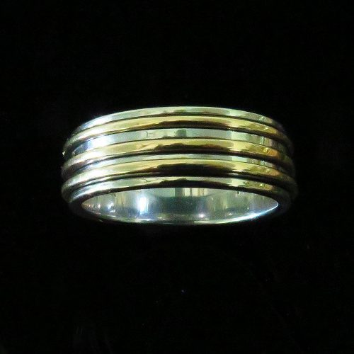 Gold Men's Spinner Band