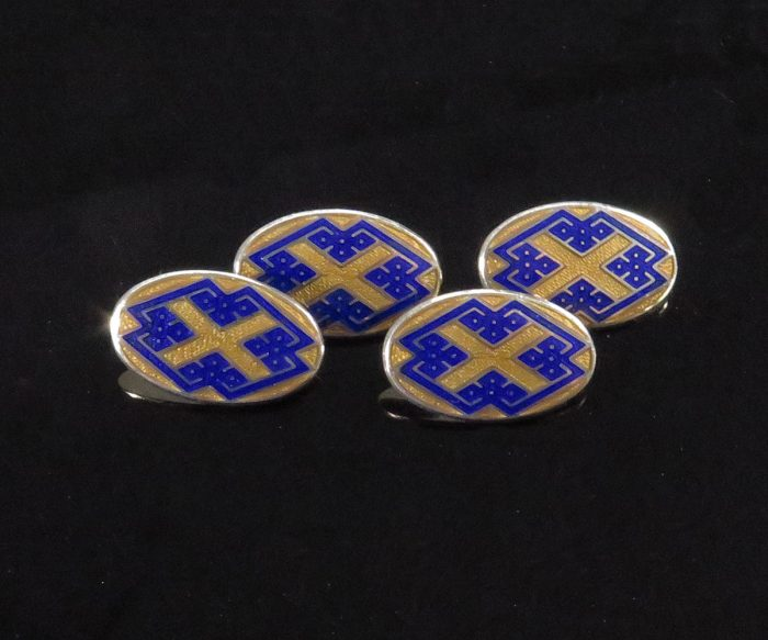 English Vermeil Enamel Cufflinks