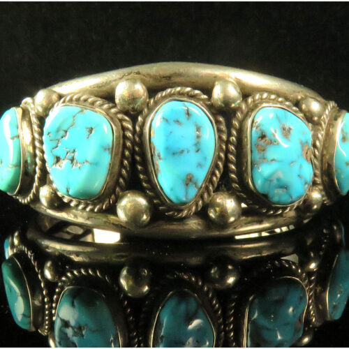 Silver Native American Turquoise Cuff