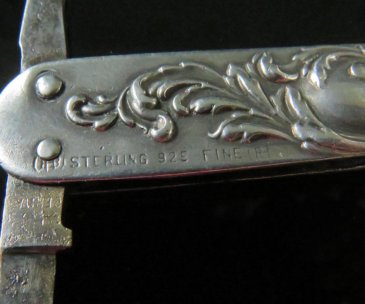 Sterling Figural Pocket Knife by Unger Bros.
