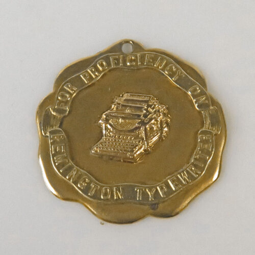 Gold Typewriting Medal
