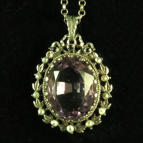 Silver Austrian-Hungarian Amethyst Pendant