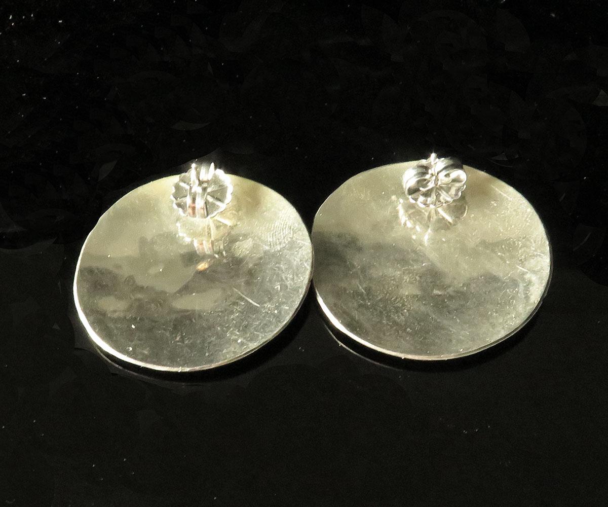 Sterling Thunderbird Overlay Earrings
