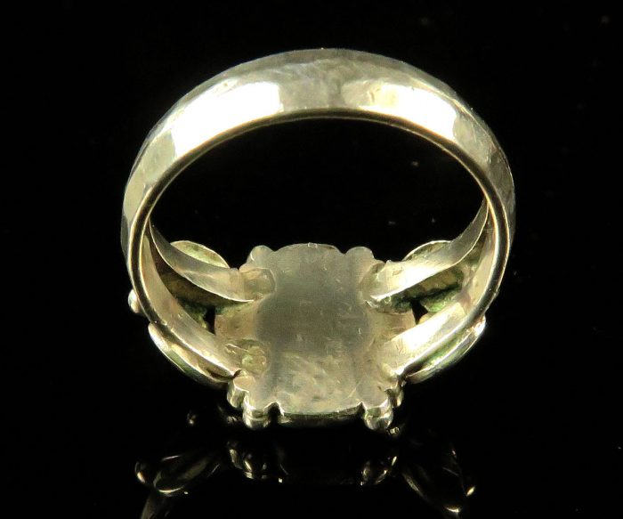 Sterling Arts & Crafts Coral Ring