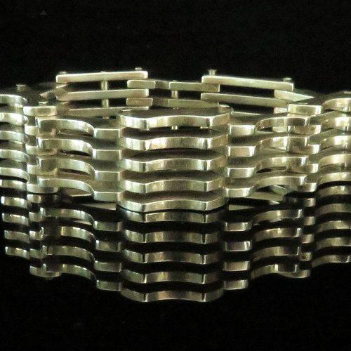 Silver Grid Link Bracelet from Argentina