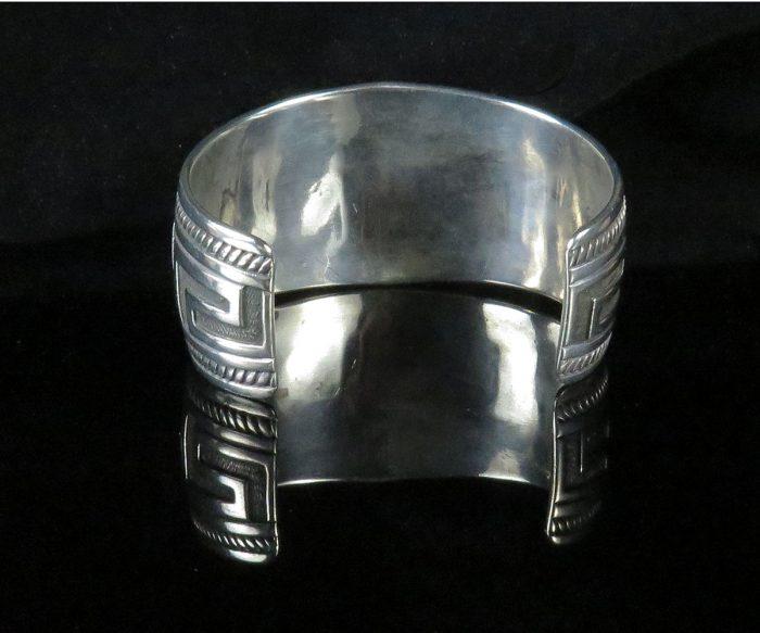 Sterling Native American Geometric Cuff