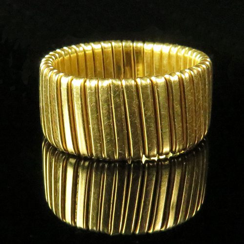 Gold Italian Flexible Wide Band
