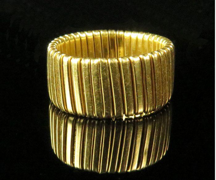 Gold Italian Flexible Wide Band