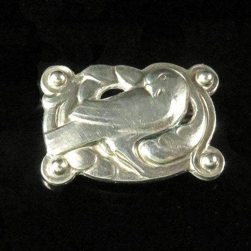 Sterling Georg Jensen Dove Brooch