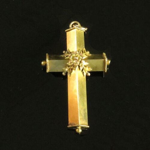 Gold Etruscan Revival Cross