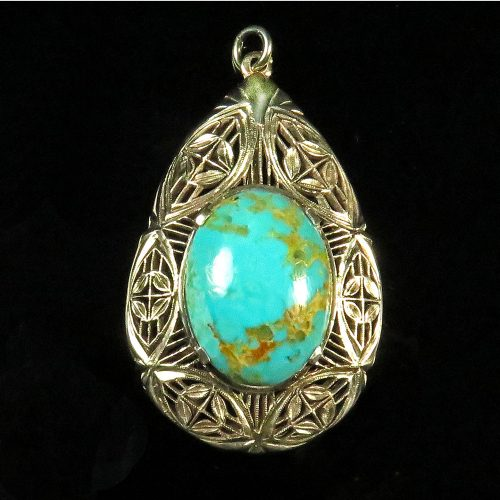 Sterling and Turquoise Pendant