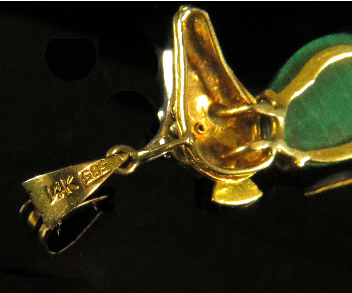 Gold Seahorse Pendant