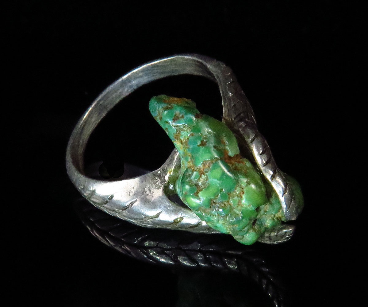 Hand Made Silver ring with Natural Damele Turquoise