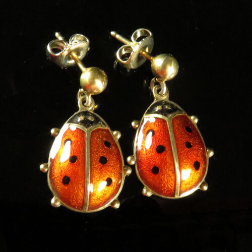 David Andersen Lady Bug Earrings