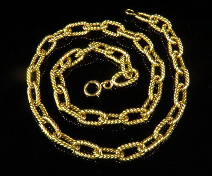 Gold Twist Wire Link Choker