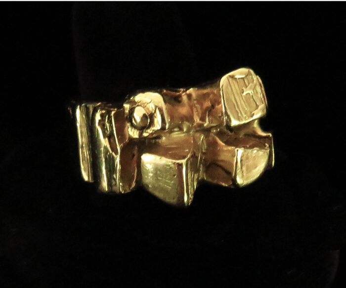 Gold Brutalist Ring