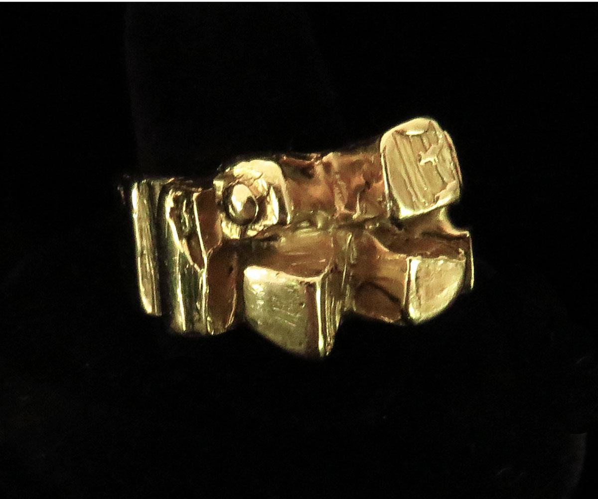 Gold Brutalist Ring