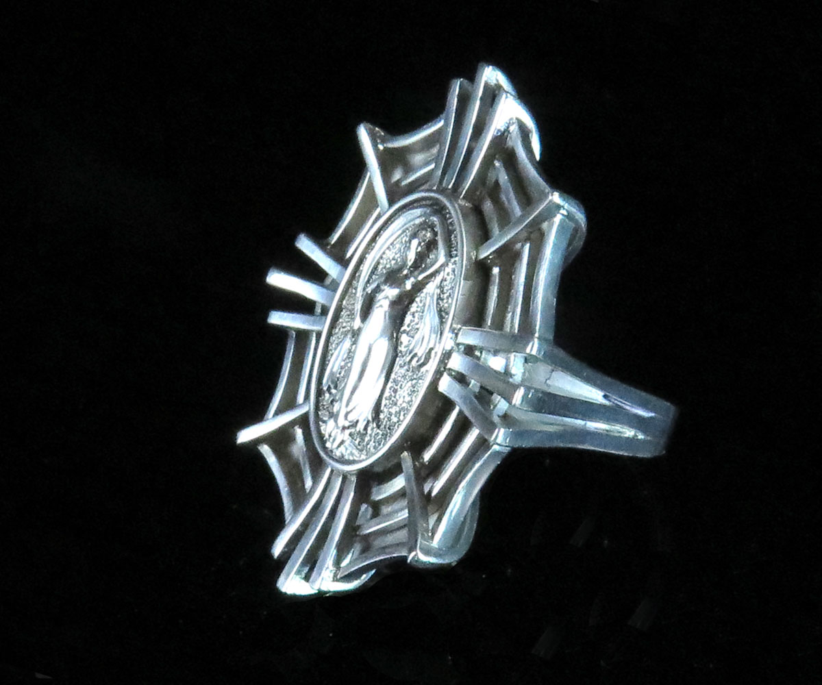 Custom Made Silver SpiderWeb Set