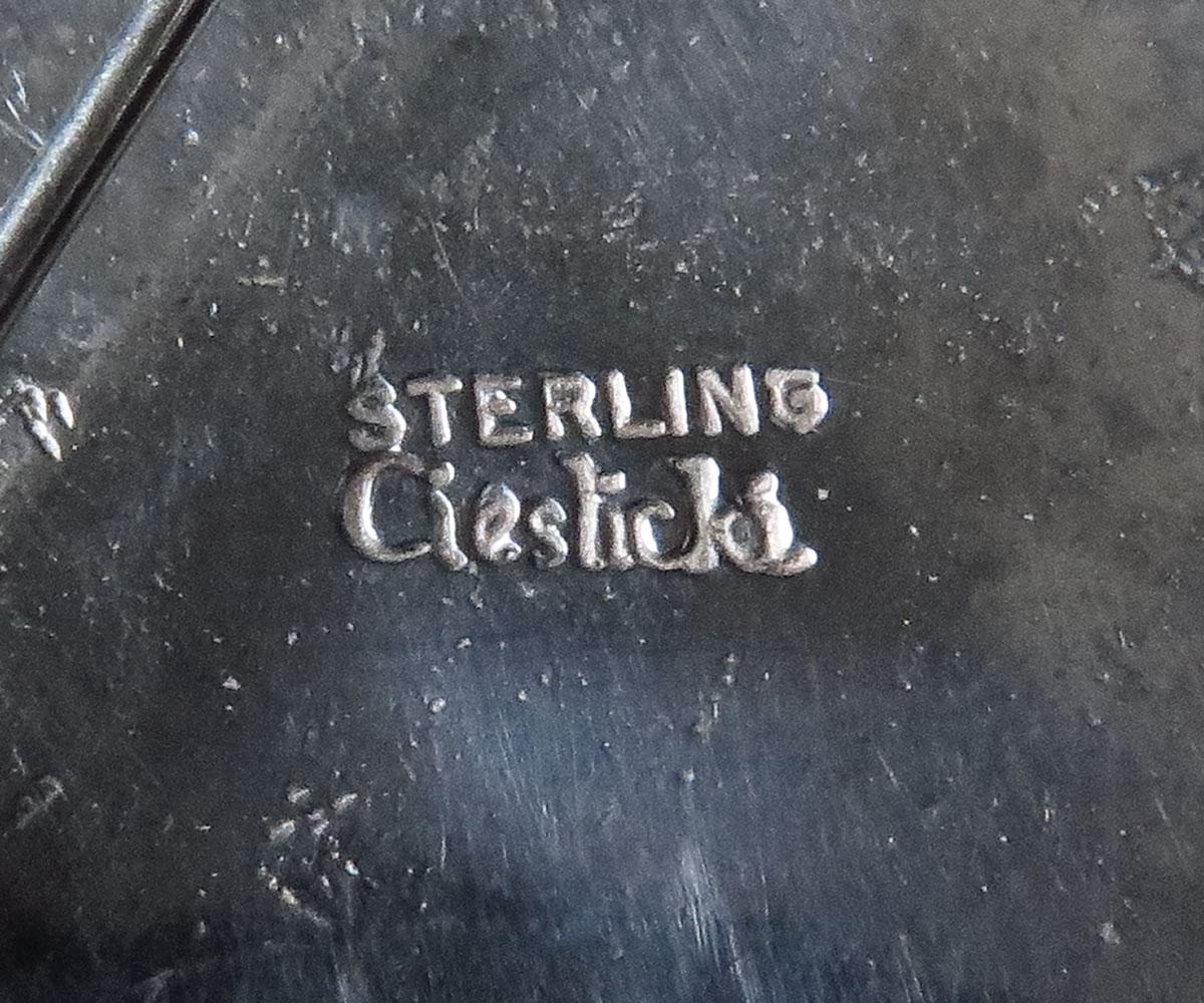 Sterling Enamel Pin by Barbara Cieslicki