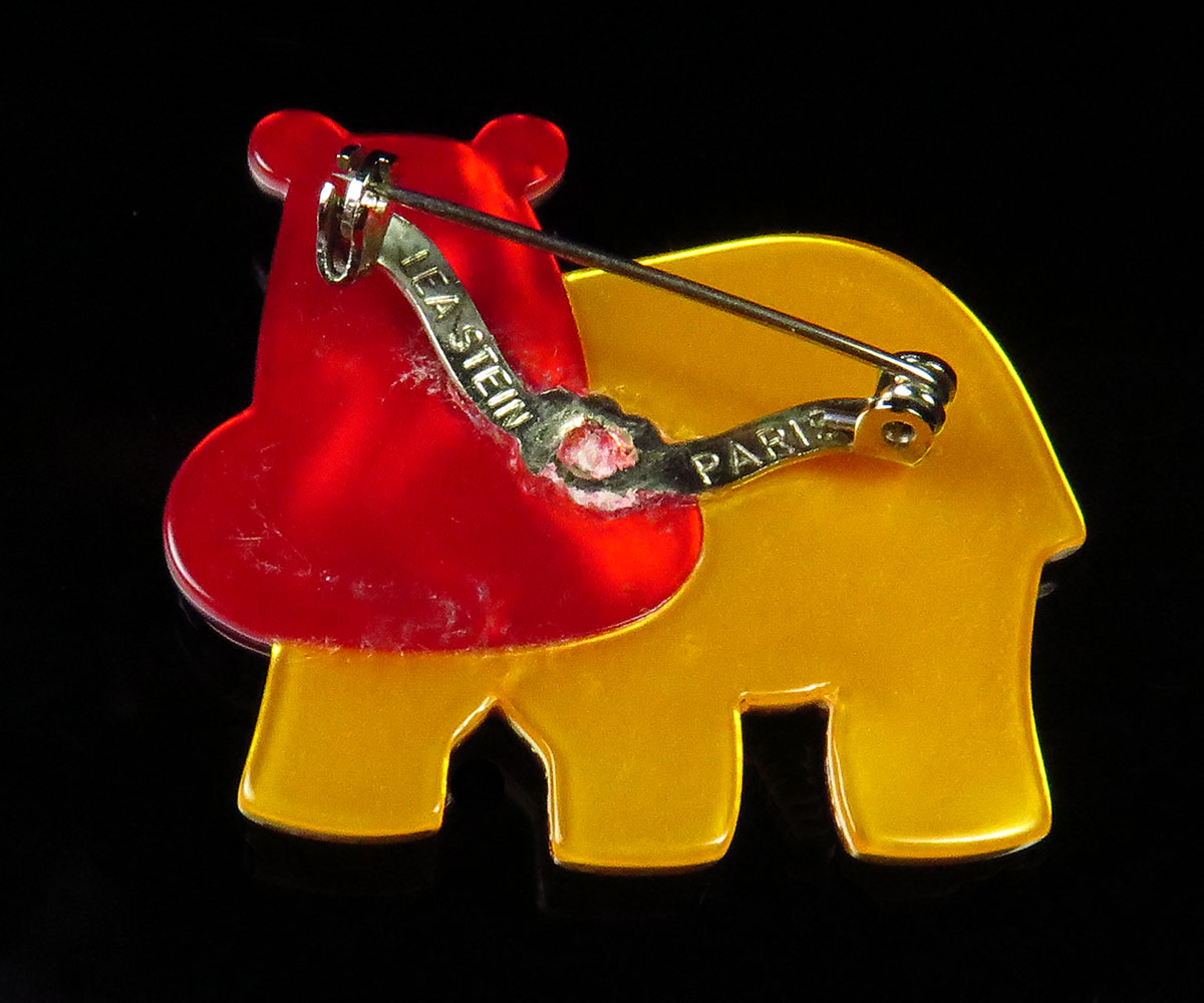 Vintage Lea Stein Hippo Pin