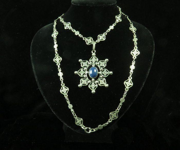 Silver Italian Renaissance Revival Necklace
