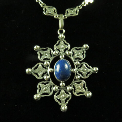 Silver Italian Renaissance Revival Necklace