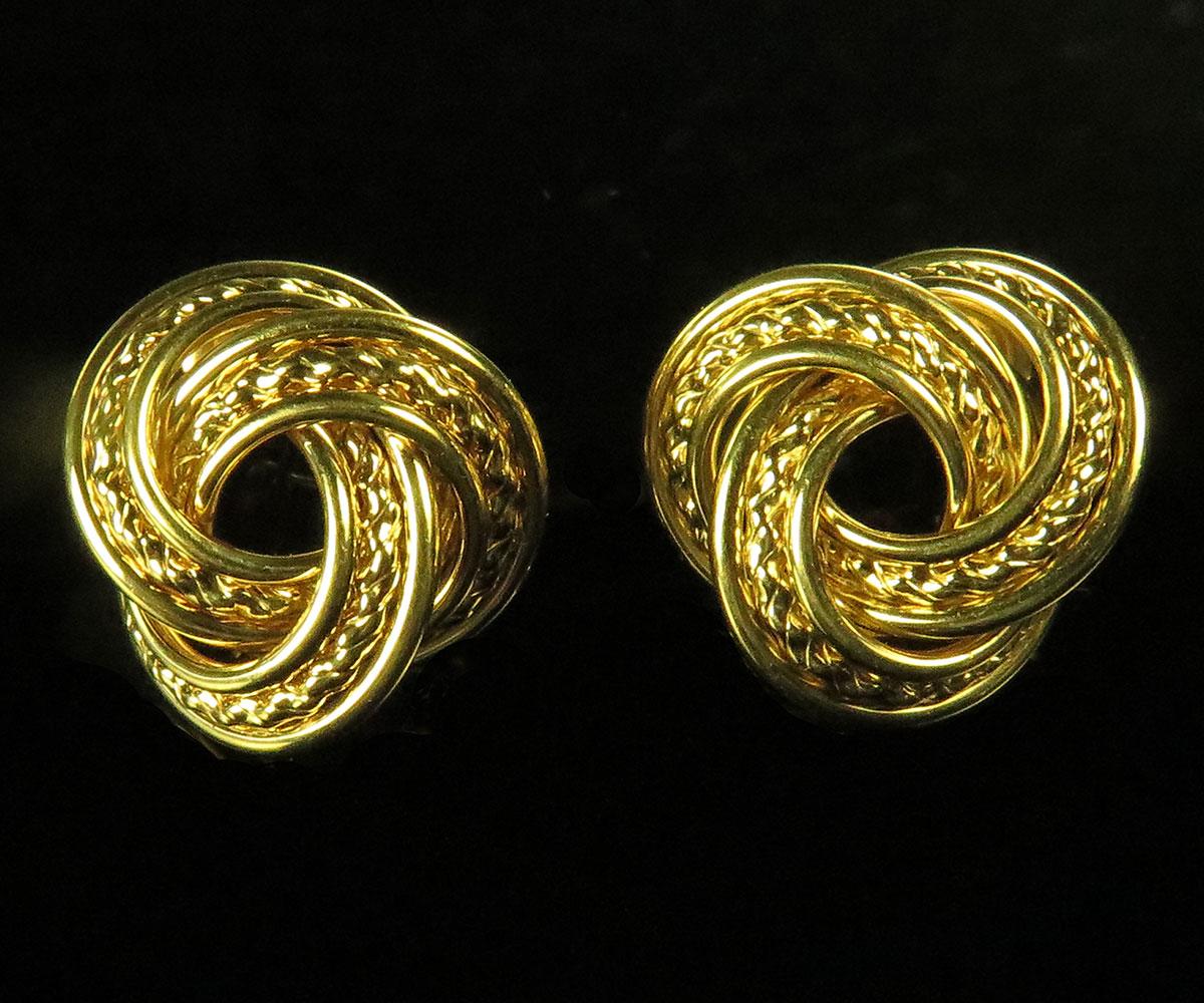 Modern Gold Love knot Earrings