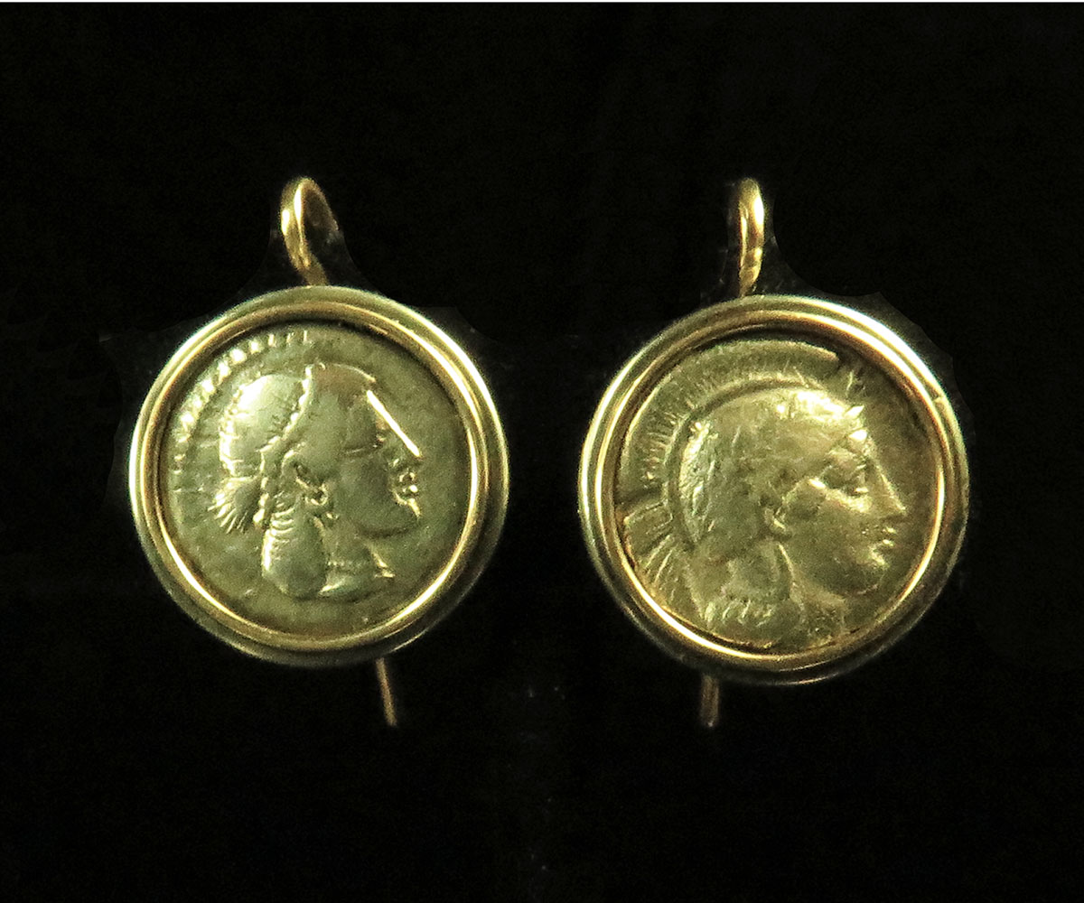 Ancient Greek Coin Earrings
