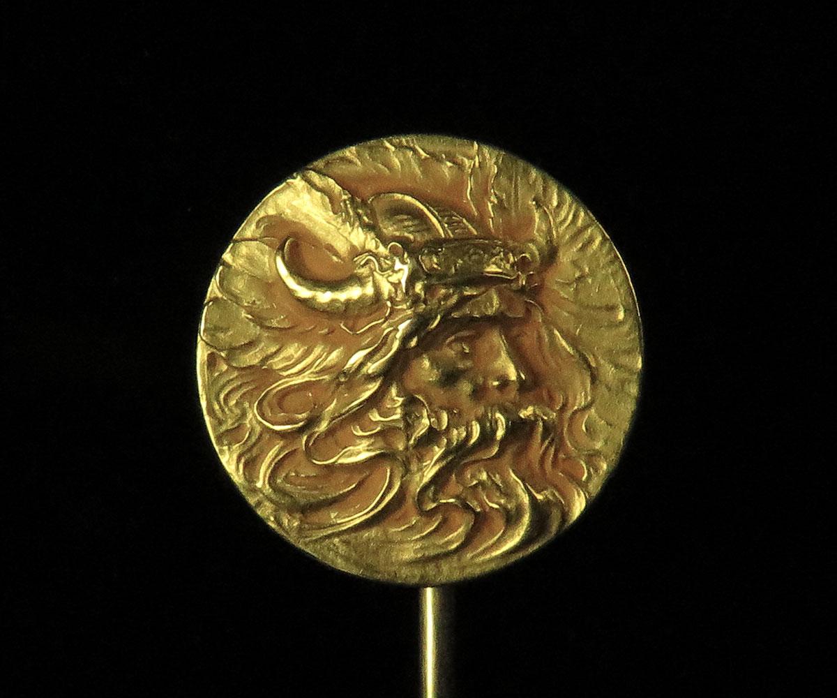 Vintage Gold North Wind Stickpin