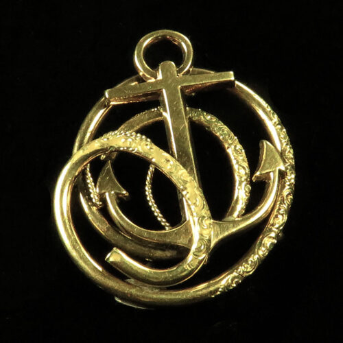 Victorian Gold Anchor Brooch